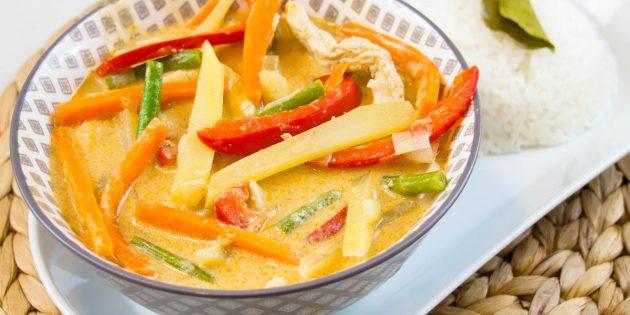 Le fabuleux curry rouge de l'Éléphant Thaï